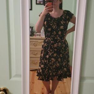 Lauren Conrad Floral Ruffle Dress - XL